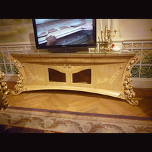 noble classic living room furniture fancy design TV stand cabinet