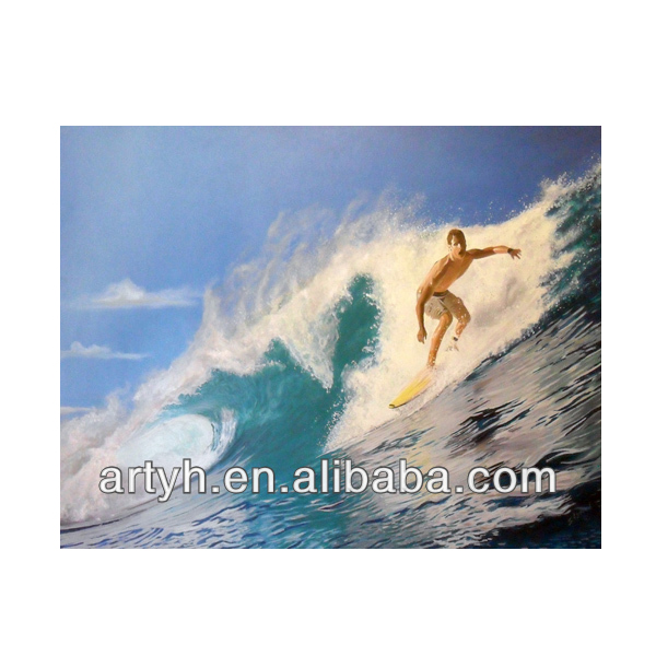 High Quality Surfing Art Pictures to Draw Oil Painting