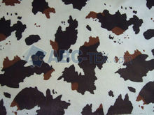 2012 HOT SELL A126 velboa Cow animal print faux fur fabric
