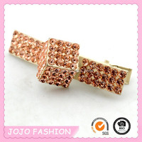 Mini crystal crocodile hair clip for girls