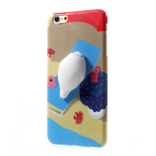 Hot sale 3d animal shaped cartoon design silicone mobile phone case for iPhone 6/6s
