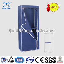 Plastic Portable Folding Fabric Canvas Closet Storage Clothes Closet Wardrobe