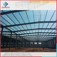 prefab high strength portable house materials steel structure warehouse