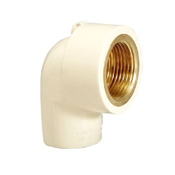 High Quality ASTM D2846 CPVC Female Elbow with brass