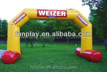 HI 2015 best price CE certificate inflatable finish line arch,cheap inflatable arch for sale,inflatable rainbow arch