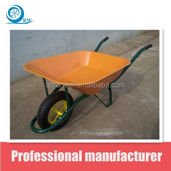 yellow wheel barrow WB6206 with pneumatic wheel