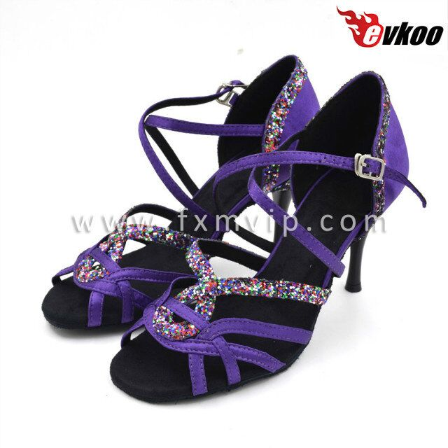 Dark purple wholesale wide width women shoes high plateau heels tango shoes