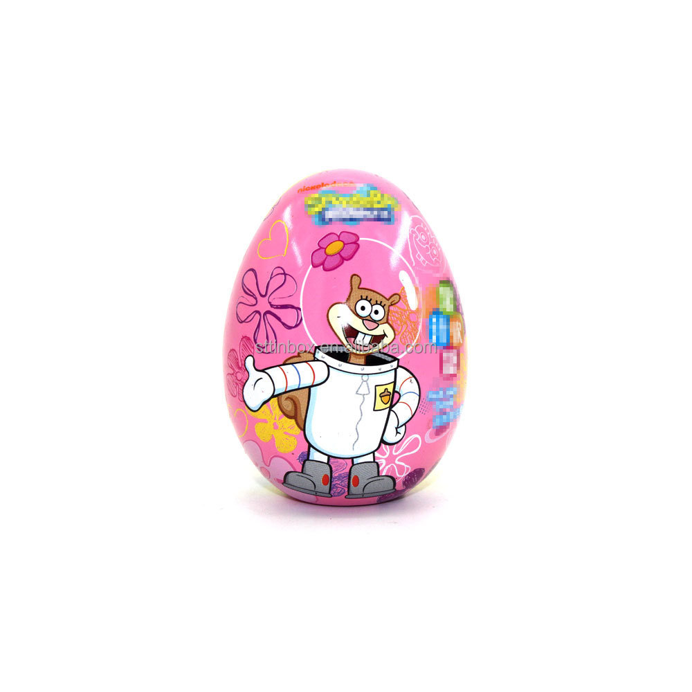 Food Package Egg Shaped Tin Box For Easter or Promotional Suitable For Chocolate / Candy