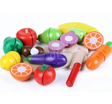 100%green paint wood pretend toys kids pretend play fruit toys cutting vegetables