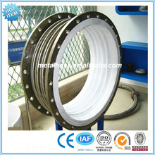 Teflon PTFE lined metal expansion joint/pipe compensator flanged/stainless steel bellows corrugated compensator