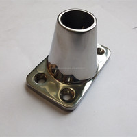 316 STAINLESS STEEL 90 DEGREE STANDARD STANCHION BASE FOR BOAT