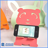 Multi color bear animal shape wooden DIY mobile phone organizer