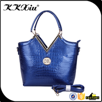 Chinese famous premium trend women brand handbag with metal