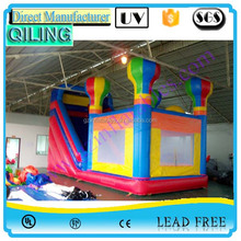2016 commercial festival balloon inflatable bounce house with big slide for sale / inflatable bounces for kids and adult