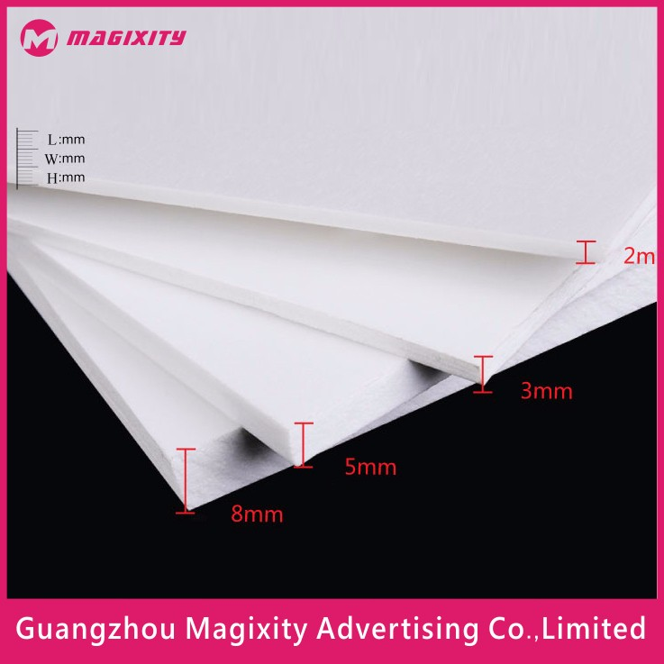 3mm color solid advertising pvc free foamy board