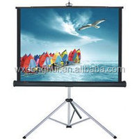 waterproof portable tripod screen for projector with strong support
