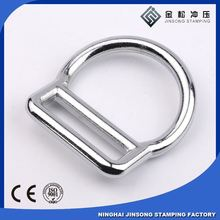 Wholesale high quality custom metal adjustable rings, hardware d ring for bags