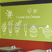 Ice cream shop decorative wall stickers