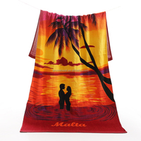 EAswet China Promotion high quality sublimation printing hotel shower towel quick-dry USA flag beach towel