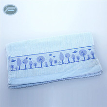 Resonable price soft touch pure cotton elastic towel for adults