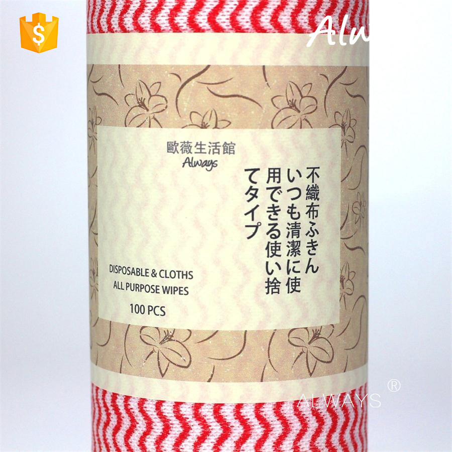 Super Absorbent wood pulp & polyester nonwoven kitchen towel