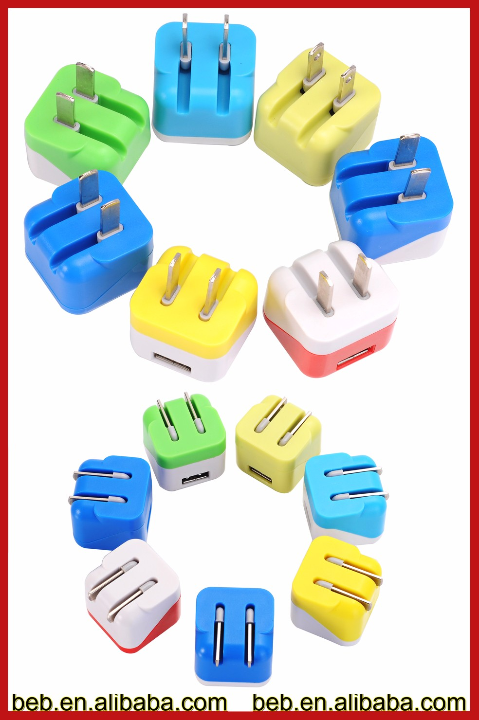 5v 1000ma cute mobile phone charger for iphone 6