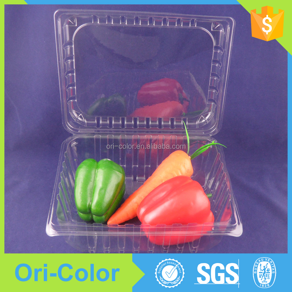 Fruit and vegetable plastic packaging box