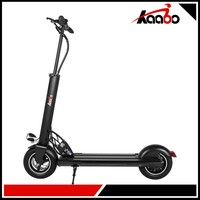 Led Lights Adult Scooter 10 Inch Wheel Folding Street Legal With Handle Electric Adult Scooter