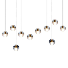 hot sell popular LED round ice bubble glass crystal project pendant ceiling chandelier