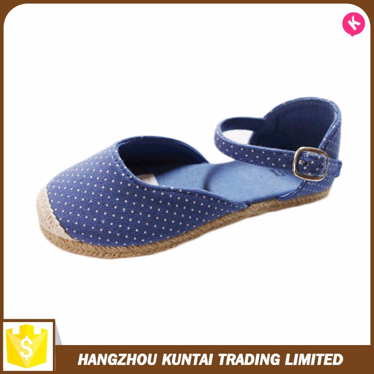 2016 comfortable canvas flat sandals for ladies pictures