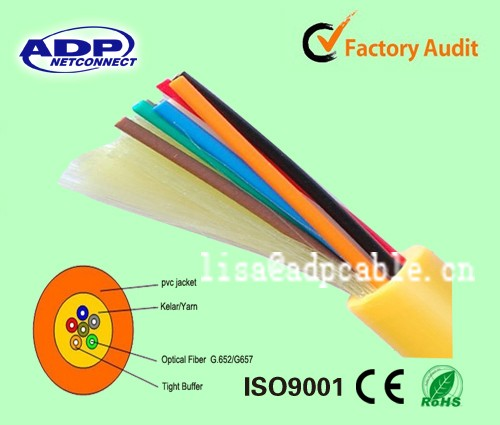 tight buffered round optical fiber cable GJFJV