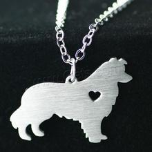 New Stainless Steel jewelry jewel dog shape animal pendant stainless steel necklace