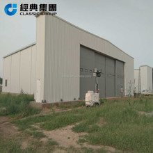 sliding hangar door prefabricated steel structure aircraft hangar