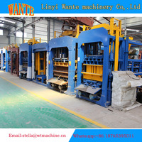 WANTE MACHINERY QT6-15 block machine line delivery to Russia