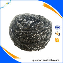 Stainless steel pan scourer