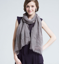 Customized 100% Linen Scarf Manufacturer