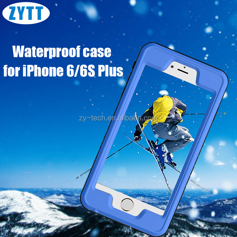 4 defender colorful metal straight frame super strong waterproof mobile phone case for iphone 6plus