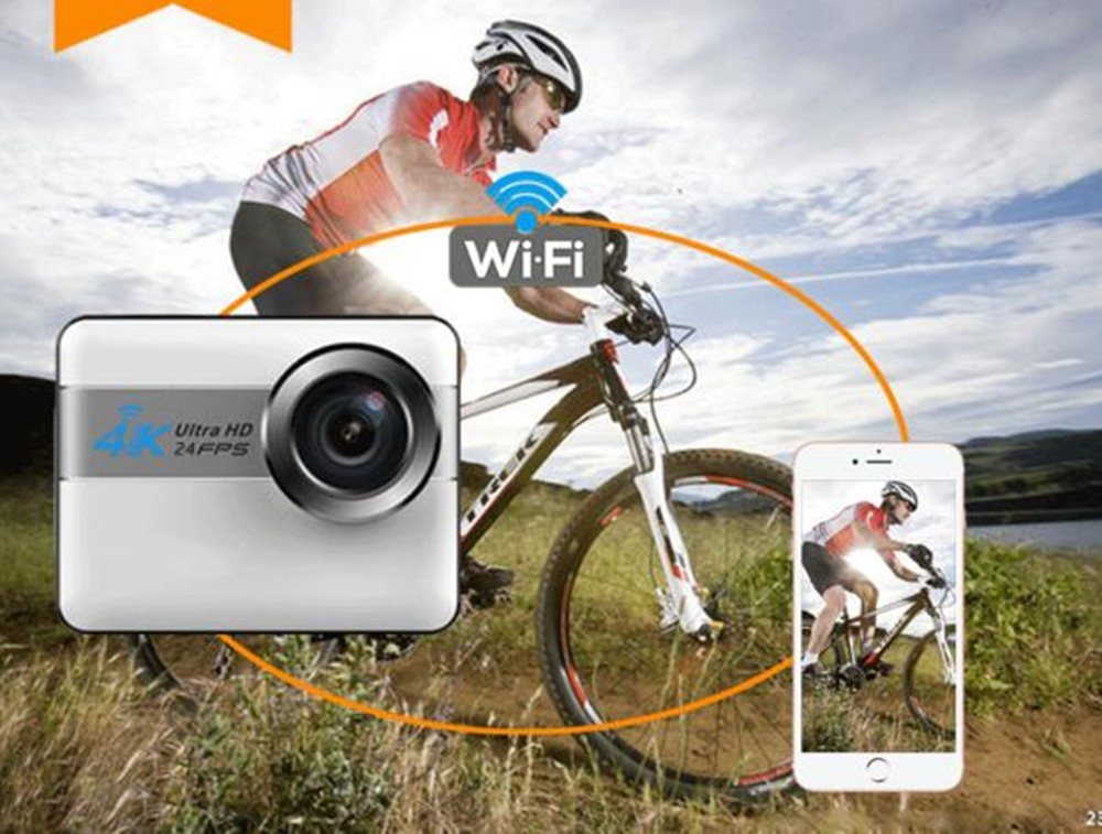 Touch Screen action camera 4K WIFI waterproof sport camera NTK96660 digital Helmet Camcorder