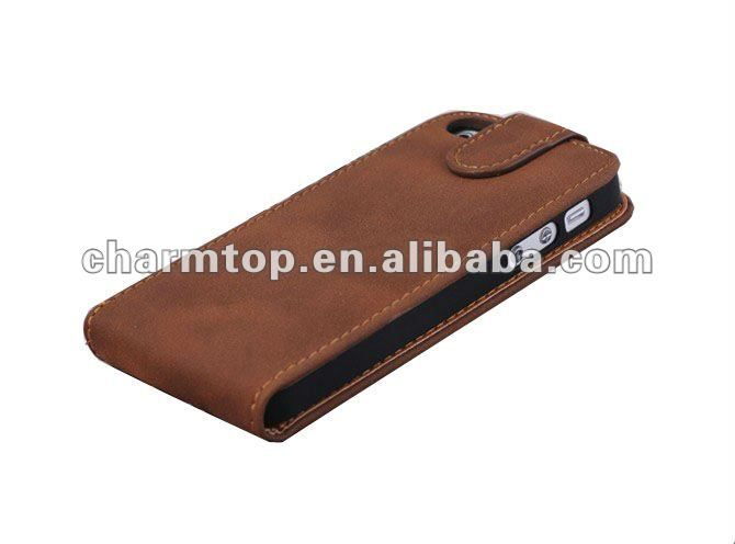 Stylist PU Leather Case for iPhone 5