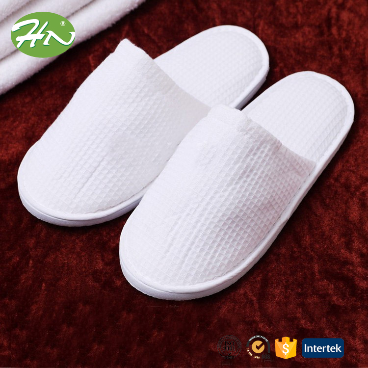 customized motel/hotel disposable waffle slippers slippers with logo