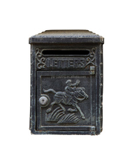 Outdoor Used Rustic Style Cast Iron Mailbox Post
