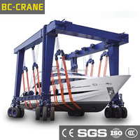 CE Certificated Durable Rubber Tyre Mobile Container Crane