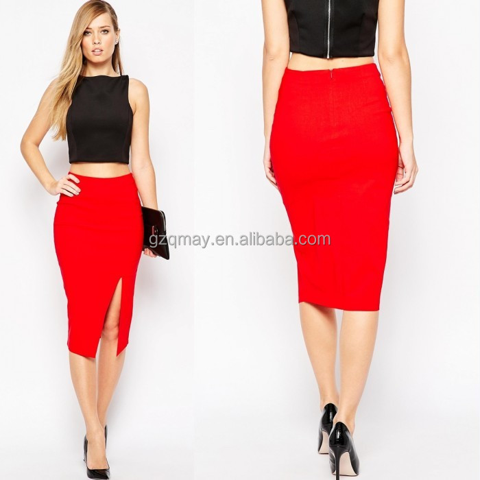 2015 Hot Selling Thailand Wholesale Bodycon Dress Sexy Crop Top Skirt and Top Designs for Women