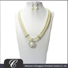 WHOLESALE GLASS PEARL WOMEN ACCESSORIES NECKLACE EARRING JEWELRY SET