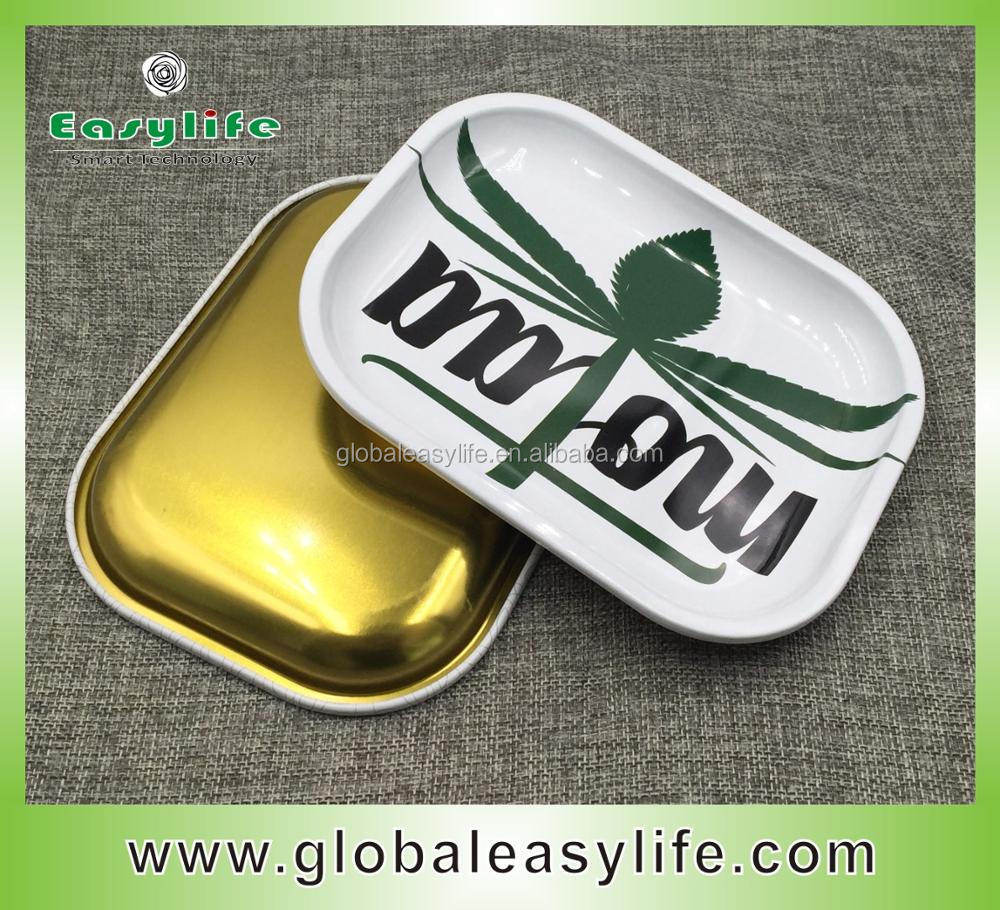 Wholesale Small Rolling Metal Tray for Herbs