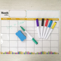 Cheap Magnetic Dry Erase Monthly Calendar Planner Board Fridge Magnets White Board