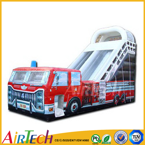 fire truck inflatable bounce house for kids bouncy