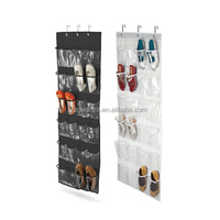 cheap hot saleing 24 pockets Clear Over The Door Shoes hanging Organizer