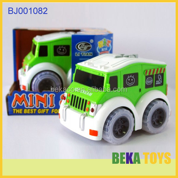 Funny kid toy battery operated plastic toys tipper truck green mini jeep baby toy car