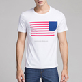 Wholesale American Flag Men's Short Sleeve T Shirt High Quality White 100% Cotton O neck T shirts USA Flag Tee